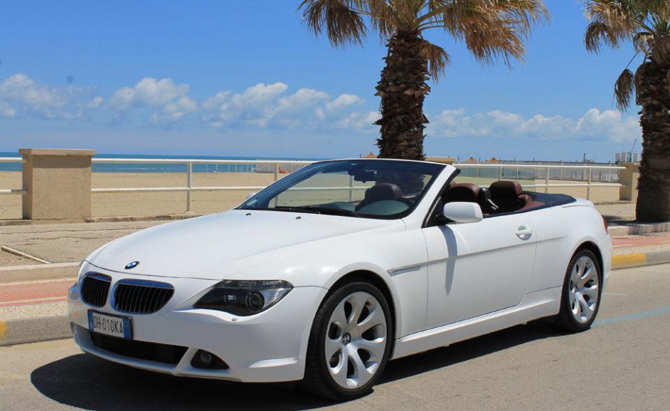 BMW 654 cabrio Autonoleggio auto di lusso NCC Bari Pasquale Vallone group Puglia